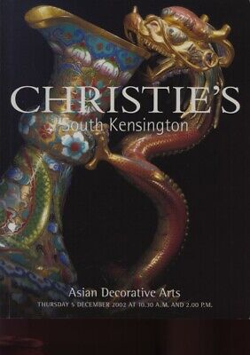 Christies December 2002 Asian Decorative Arts