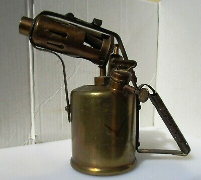 Large Vintage Brass Blow Torch from BURMOS