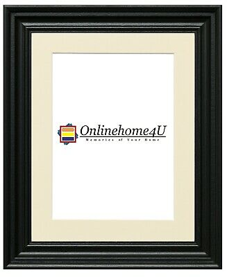 Swept Traditional Ornate Picture Photo Frames Black Frame With Various Mounts