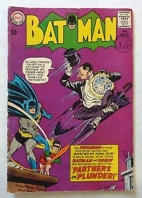 Batman 169 Silver Age 1965 DC Comics VG+ Condition 2nd Silver Age Penguin