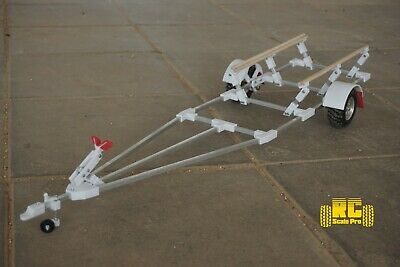 Rc boat trailer kit for traxxas spartan and similar size rc crawler towing