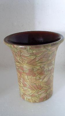 Mid Century CERAMIC Abstract Glaze VASE made in WEST GERMANY 13cm high