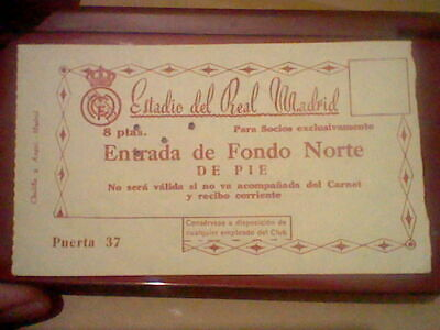 Real Madrid 3 Manchester 1  Champions League 11 Apr 1957 Semifinal  Ticket Socio