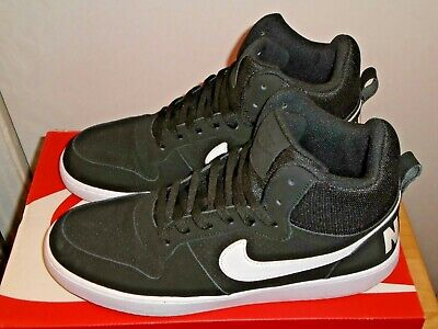 huge selection of 6d8aa 0239f Mens Nike Court Borough Mid Black   White Sneakers Size 11.5