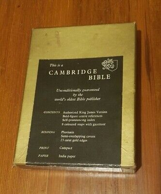 Vintage Cambridge Compact Bible  - Printed In England