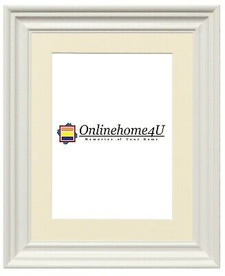Swept Traditional Ornate Picture Photo Frames White Frames With Various Mounts