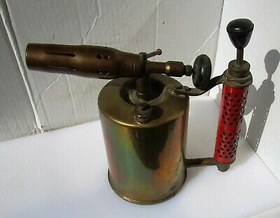 Very Large Vintage Brass Blow Torch from UNKNOWN MAKER