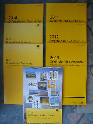 6 Briefmarkenkalender Deutsche Post 2011 bis 2016