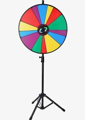 "Voilamart 24"" Prize Wheel 14 Slots Dry Erase Wheel of Fortune Spinning Wheel wit"