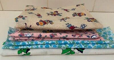 Lovely Group of Vintage Fabrics incuding Novelty Seersucker Circus Fabric
