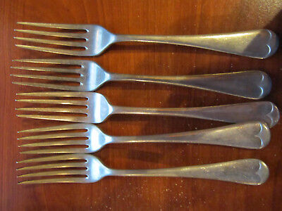 5 Silver Forks All With Markings      ********* Must See ************