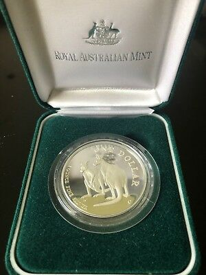 1999 $1 One Dollar Silver Kangaroo Fine Silver Proof Coin *Royal Australian Mint