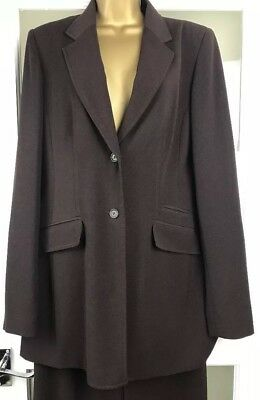 Long Tall Sally Chocolate Brown Trouser suit size 12 Smart /Work /Office