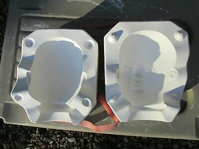 slip casting plaster moulds to make various  doll head legs & arms