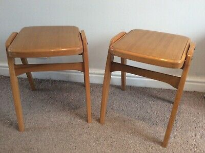 Admirable Pair Of Vintage Stacking Stools Probably Ben Mid Century Theyellowbook Wood Chair Design Ideas Theyellowbookinfo