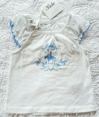 Bebe by Minihaha baby girls top size 9 months BNWT New