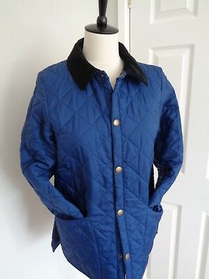 BNWT Childrens Barbour Blue Quilted Liddesdale Jacket  age 12/13 size XL