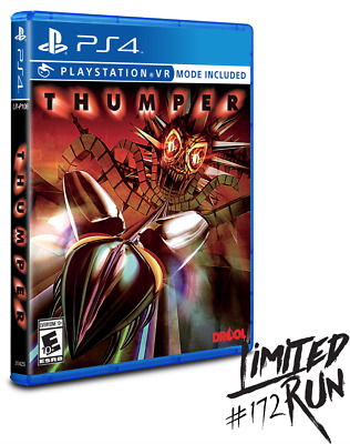 Thumper PS4 PSVR Playstation VR Limited Run Games LRG Brand New Sealed Sold Out!