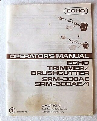 echo trimmer owners manual