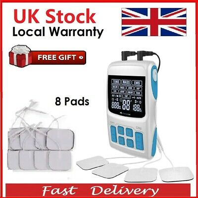 3 in 1 Tens Machine Digital Therapy Full Massager Pain Relief Acupuncture 8 PADS