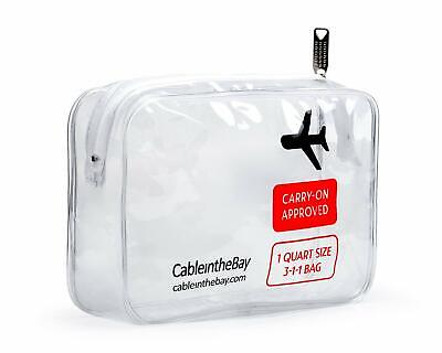 Tsa Approved Clear Travel Toiletry Bag | Quart Sized With Zipper | Airport Airli
