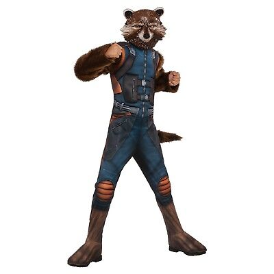 NEW Costume Boys MARVEL GUARDIANS GALAXY ROCKET RACCOON SIZE LARGE 12-14