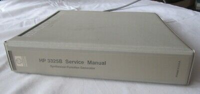 Service Manual HP 3325B Synthesizer/Function Generator