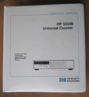 Service Manual HP 5334B Universal Counter Frequenzzähler