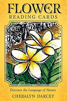 FLOWER READING CARDS BOOK TAROT DECK ORACLE BOTANICAL Cheralyn Darcey CAT ResQ