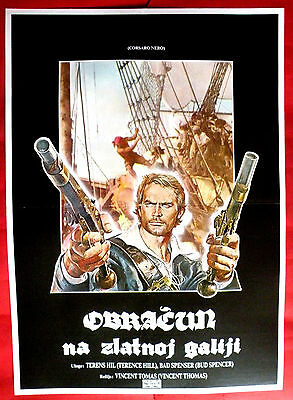 BLACKIE THE PIRATE 70's TERENCE HILL BUD SPENCER SILVA MONTI EXYU MOVIE POSTER 2