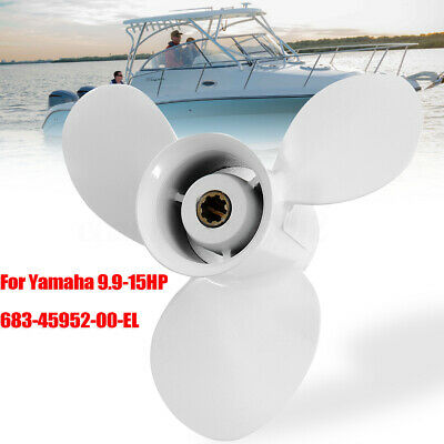 9 1/4 x 9 3/4 Aluminum Propeller For Yamaha Outboard 9.9-15HP 683-45952-00-EL