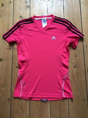 Womens Girls Sports Run Gym Yoga Tennis T Shirt S Small Size 8 Adidas
