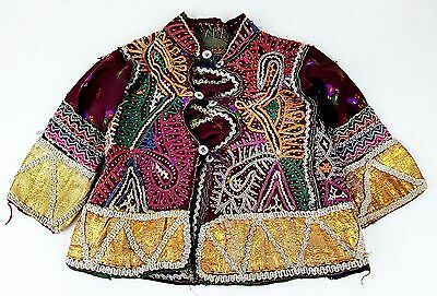 Vintage Indian Child's Choli Mirrored Embroidered  Tribal baby Banjari jacket