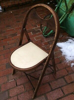 Lewis Rastetter & Sons Solid Kumfort Wood / Metal Folding Chair - Good