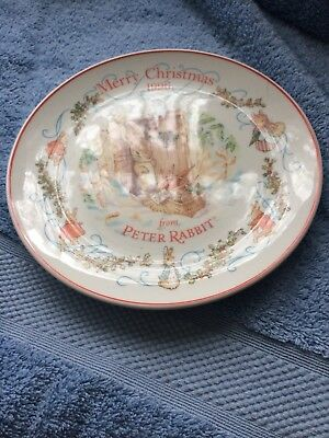 Wedgwood Peter Rabbit Christmas Plate 1996 Mint Condition