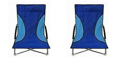 Enjoyable 2 Blue Nalu Folding Low Seat Beach Chairs 27 99 Picclick Uk Cjindustries Chair Design For Home Cjindustriesco