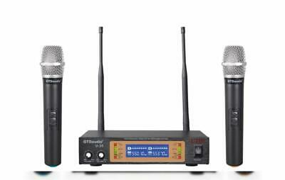 GTD Audio U-35H UHF Wireless Microphone System Karaoke mic with 2 microphones