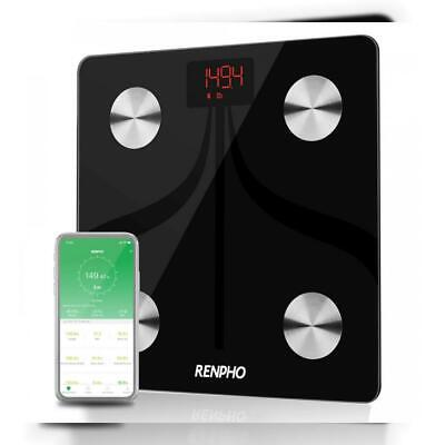 RENPHO Bluetooth Body Fat Scale USB Rechargeable Smart Digital Bathroom...