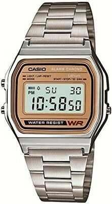 【+Tracking#】CASIO Digital Watch Silver/Gold A-158WEA-9JF Standard Men's Japan