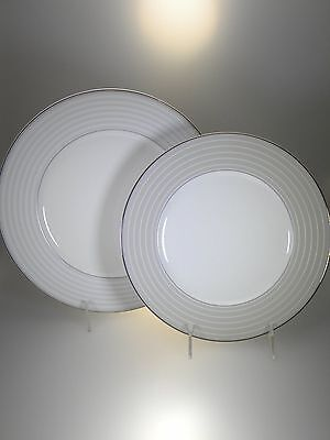 "Noritake Windsor Platinum Dinner Plate & 9"" Accent Plate BRAND NEW"