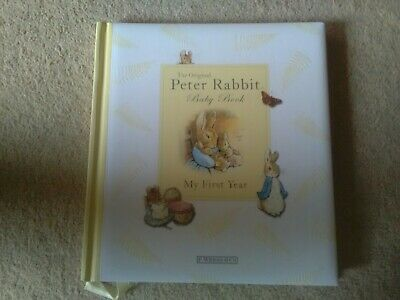 Peter rabbit baby record book New.