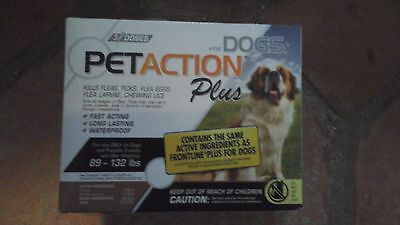 PetAction Plus Flea & Tick Drops for XL Dogs 89-132 lbs 3mo supply