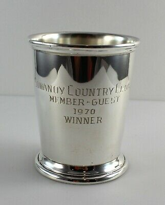 """Poole Silver 58 Sterling Silver Mint Julep Cup - 3 3/4"""" - w/Monogram"""