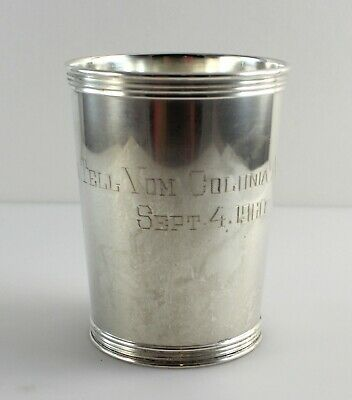 """Manchester 3759 Sterling Silver Mint Julep Cup - 3 3/4"""" - w/Monogram"""