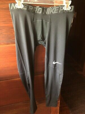 880e99c06d NIKE PRO 3/4 Compression Tights Basketball Knee Padding Navy 640933 ...