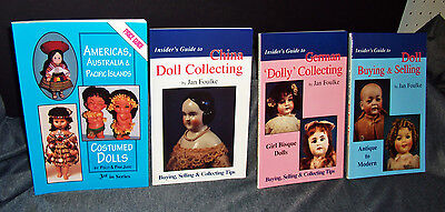 4 DOLL BOOKS Island Dolls, China Doll Guide, German Girl Bisque, Buy/Sell Dolls