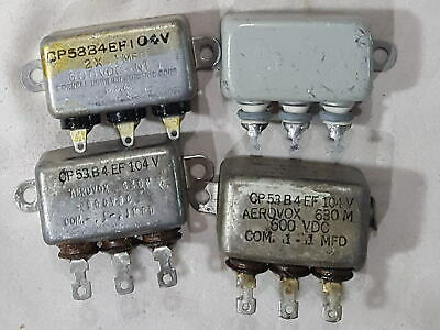 Capacitor Oil Filled Quad (QTY-4) Some NOS 2 x .1uf @ 600VDC