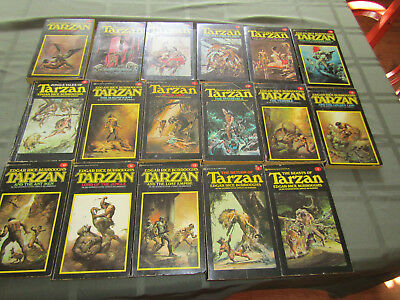 Collection Of Vintage Tarzan Paperbacks by Edgar Rice Burroughs