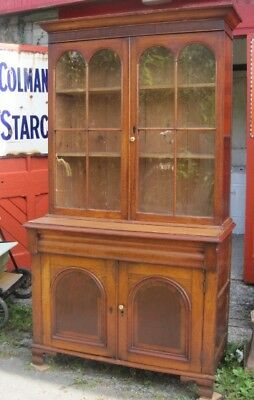 Oak Glazed Bookcase.