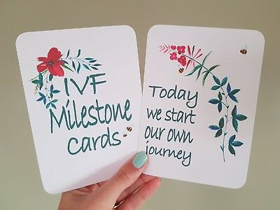 IVF Milestone Cards Fertility Conception Gift Photo prop (A2)
